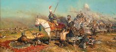Ryzhenkov Pavel Viktorovich - An amazing painting depicting the aftermath of The Battle of the Kalka River  took place on May 31, 1223, between the Mongol Empire (led by Jebe and Subutai) and Kiev, Galich, and several other Rus' principalities and the Cumans.
