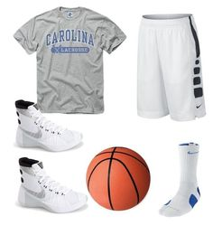 """Hooper Stat girl basketball outfit"" by aliya-ramon on Polyvore featuring NIKE"