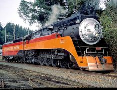 SP 4449 Southern Pacific Railroad Steam 4-8-4 at Toledo, Oregon