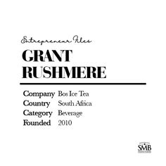 Grant Rushmere approached fellow entrepreneur and Rooibos farmer Richard Bowsher with the brand concept and secret recipe, and BOS was born.