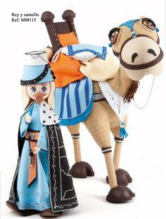 Rey y camello - Revista Manos Maravillosas Fofuchas 5