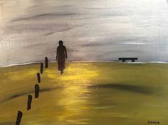 """""""Beach,"""" acrylic on canvas, 16x20."""