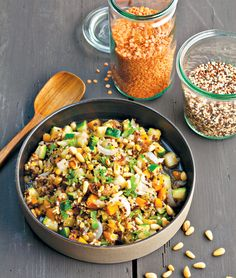 Recettes : wok me up !You can find Quinoa and more on our website.Recettes : wok me up ! Raw Food Recipes, Salad Recipes, Diet Recipes, Cooking Recipes, Healthy Recipes, Asian Cooking, Healthy Cooking, Healthy Food, Plat Vegan
