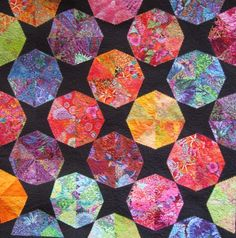 """""""Parasols"""" - a wall quilt by Ingrid Ellis Black And White Quilts, New York Beauty, Hand Stitching, Fireworks, Textiles, Abstract, Gallery, Collages, Mixed Media"""
