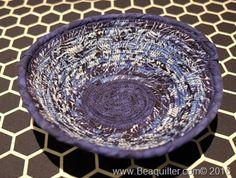 island batik winter wonderland fabric bowl