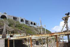 The grounds of the old Grapetree Bay Inn.  The inn was destroyed by Hurrican Hugo (1990).  Never rebuilt.