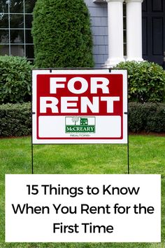 If you have never rented a home before, there are some important facts you should know before you sign on the dotted line. Renting can be a great way to go before you decide to buy. In fact, some people choose to rent forever to avoid the perils of home Renters Insurance, Home Insurance, Landlord Insurance, Moving Day, Moving Tips, Apartment Hunting, Apartment Living, Apartment Checklist, Home Ownership