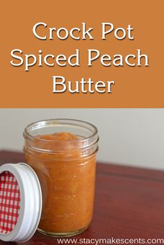 Crockpot Spiced Peach Butter. Use up some peaches that are about to go bad or some that you've frozen with this easy recipe.