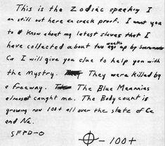 The Zodiac Killer Letter