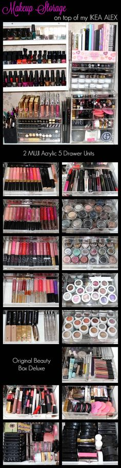 Top 10 Ways to Organize Your Makeup - Perilously Pale Makeup Storage Solutions, Makeup Storage Drawers, Makeup Organization, Beauty Makeup Tips, My Beauty, Beauty Hacks, Beauty Inside, Beauty Room, Beauty Stuff