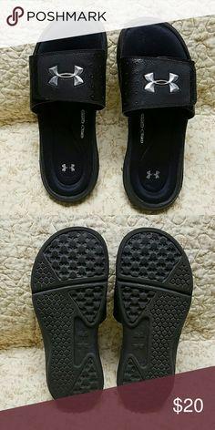 Under Armour Woman's slides, size 7, black Under Armour woman's slides,  size 7, black Under Armour Shoes Sandals