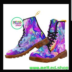 Amazing these Boots 💯🌈😭 Rave Shoes, Floral Combat Boots, Music Festival Outfits, Hiking Boots, High Top Sneakers, Men, Trance, Awesome