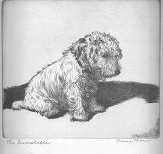 Diana Thorne Inconsolable Sealyham Terrier Dog Print Authentic Vintage 1935      #Vintage
