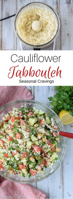 Cauliflower Tabbouleh is the perfect healthy, detox salad to fill your body with nutrition. Make it on Monday and eat it all week for lunch.