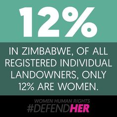 """""""If you take away land from women in the rural areas, you take away their livelihoods; you take away the very thing that they identify with. Then we fight. Because we have nothing else to lose."""" - Melania, Zimbabwe  To learn more about courageous #DefendHer Melania's work to advocate for women's right to own the land they live on and love, click the link in our bio!"""