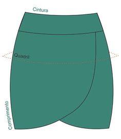 molde de saia envelope gratis - Pesquisa Google                                                                                                                                                      Mais