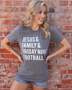 Football – Jesus & Friday Night Football – Gray Tee