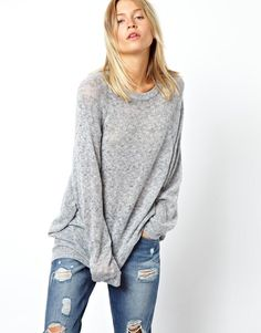 Soft oversized sweater.  Now if only I could be the size of a toothpick to wear it!