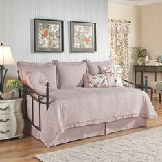 Retweet Reversible 5 Piece Quilt Daybed Collection by Waverly - 15217105X054BER