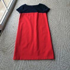 NWOT Tommy Hilfiger color block dress.Sz M. NWOT Tommy Hilfiger color block dress. Navy and red, on trend for spring. Sz M. Tommy Hilfiger Dresses Midi