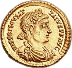First Issue Priscus Attalus Solidus, One Of Two Known