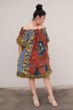 Kiki red with circle bold multi dress African Shirt Dress, Best African Dresses, Latest African Fashion Dresses, African Traditional Dresses, African Print Dresses, African Print Fashion, African Attire, Women's Fashion Dresses, Ankara Dress Styles