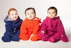 Whether cheerful, curious, or bemused, your baby will be comfortable in a Smart Little Bear fleece footie!