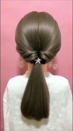 Bun Hairstyles For Long Hair, Braids For Long Hair, Braid Hair, Simple And Easy Hairstyles, Work Hairstyles, Braided Hairstyles Tutorials, Pony Hair, Everyday Hairstyles, Wedding Hairstyles