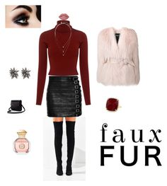 """Fur..."" by li7-p ❤ liked on Polyvore featuring Balmain, Jeffrey Campbell, Gucci, A.L.C., Alexis Bittar, Banana Republic, Anne Sisteron, Lime Crime and Tory Burch"