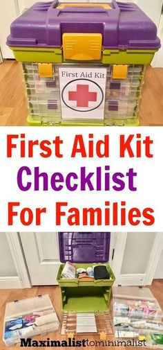 First Aid Kit Checklist for Families to Use When Traveling. first aid First Aid Kit Checklist for Families to Use When Traveling First Aid Kit Checklist, First Aid Tips, Camping Checklist, Camping Essentials, Baby Checklist, Camping Guide, Vacation Checklist, Baby First Aid Kit, Camping First Aid Kit