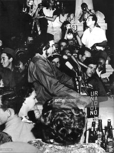 Press conference of Che Guevara (1928-1967), 20th century, Cuba.