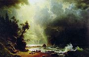"New artwork for sale! - "" Pugest Sount On The Pacific Coast by Albert Bierstadt "" - http://ift.tt/2oT38lZ"