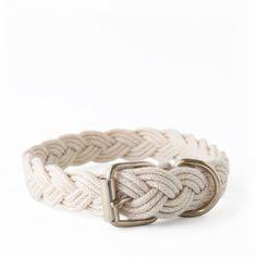 White Braided Fisherman Collar