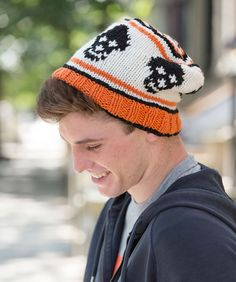 "Fair Isle ""Skull"" Cap Free Knitting Pattern in Red Heart Yarns"