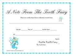 free printable tooth fairy letter tooth fairy certificate printable a note from the tooth tooth