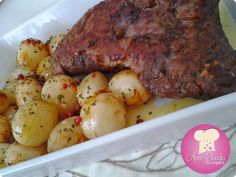 Maminha assada com mini cebolas - macia e saborosa