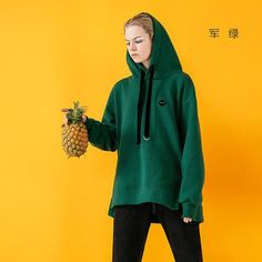 Toyouth Black Sweatshirts for Women Autumn Casual Embroidery Loose Boyfriend Style Fleece Pullovers Female Green Hoodies Cool Hoodies, Green Hoodies, Boyfriend Style, Cotton Style, Casual Fall, Black Hoodie, Sleeve Styles, Pullover, Clothes For Women