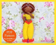 Arab Princess Doll.Dolls of the world.Felt Doll. Felt pattern. PDF Pattern. Sewing pattern. Felt Crafts.