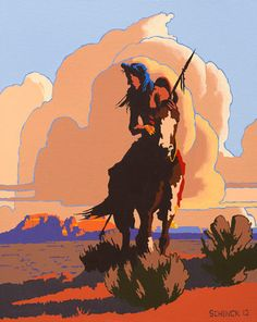 "bill schenck artist | Bill Schenck, ""In the Land of Warriors,"" oil on canvas, 24 1/2 x ..."