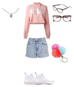"""""""Untitled #150"""" by ghgdancer1 on Polyvore featuring Converse, GCDS, Topshop, Steven Alan, Kate Spade and Accessorize"""