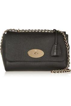 Lily medium textured-leather shoulder bag #bag #women #covetme #mulberry #designer #fashion