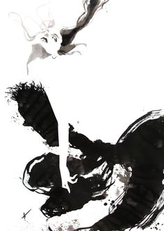 Fashion illustration - stylish black & white fashion drawing // Yasunari Awazu