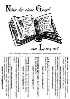 Nimm Dir Einen Grund Zum Lesen Mit! 3 X 7 Abreißzettel Zum Aufhängen Und  Einschneiden