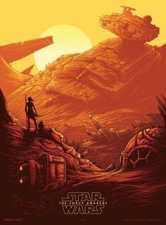 Nice Art: Dan Mumford WOWS with Illustrated STAR WARS VII Poster