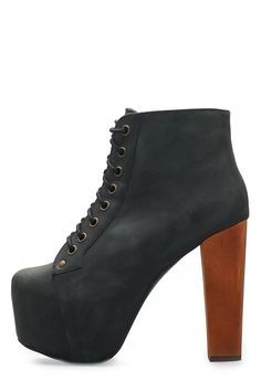 Jeffrey Campbell Shoes LITA in Black Distressed