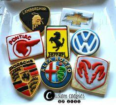 Car Logo Cookies | Custom Cookies by Jill