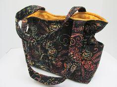 Medium Black Fall Purse, Fall Batik Winter Bag, Rainbow Handbag, Quilted Purse,Tote Bag, Diaper Bag, Shoulder Bag, Fall Purse, Quilted Tote by JustBeautiful161 on Etsy