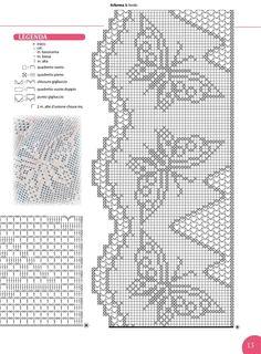 Annie's Crochet, Filet Crochet, Crochet Butterfly, Bookmarks, Projects To Try, Diagram, Pattern, Monochrome, Asia