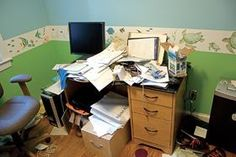 ADHD and Organization: Clear Clutter from Your Workspace This 10-point plan, designed by a professional organizer, can help ADHD adults de-clutter and organize their desks and office space -- in less than two hours. I'll get around to this... eventually ;)