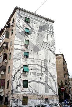 StreetArtRoma: Paesaggio   Sten Lex   2013   Zona: Garbatella   #art #streetart #roma